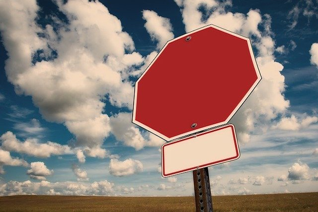 stop sign outside feature