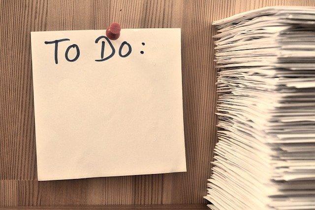 task list as metaphor of responsibilities towards shareholders feature