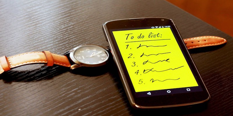 to do list on smartphone